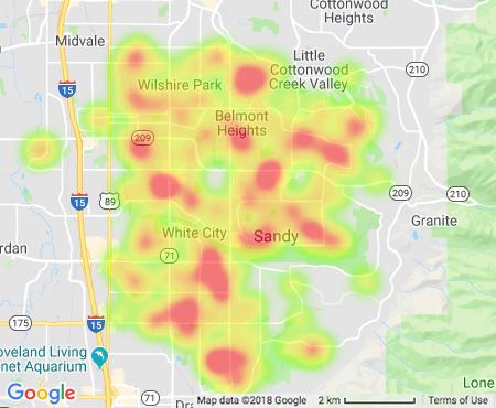 Sandy Utah Real Estate Heat Map